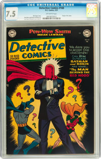 Detective Comics #168 (DC, 1951) CGC VF- 7.5 Off-white pages