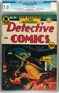 Golden Age (1938-1955):Superhero, Detective Comics #64 (DC, 1942) CGC FN/VF 7.0 Off-white to white pages....