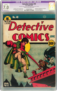 Detective Comics #40 (DC, 1940) CGC Apparent FN/VF 7.0 Moderate (P) Cream to off-white pages