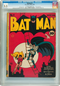 Batman #4 (DC, 1940) CGC VG- 3.5 Off-white to white pages