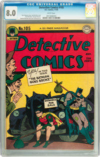 Detective Comics #105 (DC, 1945) CGC VF 8.0 White pages