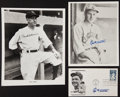 Autographs:Photos, Managerial Legends Signed Photos And Envelope Lot Of 3....
