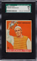 Baseball Cards:Singles (1930-1939), 1933 Goudey Benny Bengough #1 SGC 86 NM+ 7.5 - Pop One with OneHigher! ...