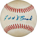 Autographs:Baseballs, 1970's Edd Roush Single Signed Baseball....