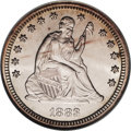 Seated Quarters: , 1883 25C MS66 NGC. Brilliantly lustrous with silver-white surfacesaccented with a smidgen of amber-gold at the rims on eac...