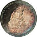 Proof Seated Quarters: , 1868 25C PR65 NGC. Briggs 2-B. This obverse die, which was usedexclusively for proofs of this date, displays triple punchi...