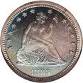 Proof Seated Quarters: , 1883 25C PR66 NGC. This is an attractive, deeply toned proof withshades of indigo, lavender, and a bit of aqua visible ove...