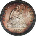 Proof Seated Quarters: , 1884 25C PR66 PCGS. A dazzling, well contrasted specimen withattractive peripheral shades of reddish-gold and cobalt-blue ...