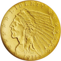 """1911 $2 1/2 PR68 NGC. In his Encyclopedia of United States and Colonial Proof Coins (1977), Walter Breen writes, """"M..."""