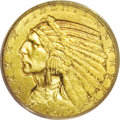 1912 $5 MS65 PCGS. Because of the conditional scarcity of Indian half eagles and the subsequent high prices these pieces...