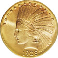 """Indian Eagles: , 1908-S $10 MS67 PCGS. It was August before Edward Sweeney,Superintendent of the San Francisco Mint, reported, """" ... a smal..."""