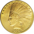 Indian Eagles: , 1914-D $10 MS66 PCGS. The 1914-D is generally considered the secondmost-available D-mint ten dollar Indian. The 1910-D, of...