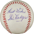 Autographs:Baseballs, Circa 1969 Gil Hodges Single Signed Baseball....