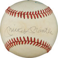 Autographs:Baseballs, Early 1980's Mickey Mantle & Roger Maris Dual-SignedBaseball....