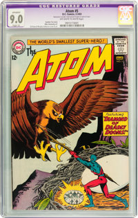 The Atom #5 (DC, 1963) CGC Apparent VF/NM 9.0 Slight (A) Off-white to white pages
