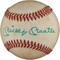 Autographs:Baseballs, 1983 Mickey Mantle & Roger Maris Dual-Signed Baseball....