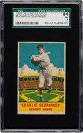 Baseball Cards:Singles (1930-1939), 1933 Delong Charlie Gehringer #5 SGC 84 NM 7 - Pop Two with OneHigher....
