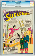 Silver Age (1956-1969):Superhero, Superman #159 (DC, 1963) CGC NM- 9.2 Off-white to white pages....