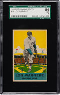 Baseball Cards:Singles (1930-1939), 1933 Delong Lon Warneke #16 SGC 84 NM 7 - Pop Two with NoneHigher....