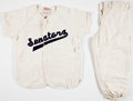 Baseball Collectibles:Uniforms, 1950's Child-Size Baseball Uniforms Worn by Roy Sievers' Son....