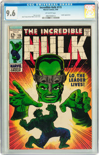 The Incredible Hulk #115 (Marvel, 1969) CGC NM+ 9.6 Off-white pages
