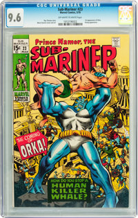 The Sub-Mariner #23 (Marvel, 1970) CGC NM+ 9.6 Off-white to white pages