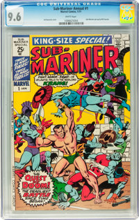 Sub-Mariner Annual #1 (Marvel, 1971) CGC NM+ 9.6 White pages