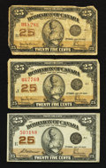 Canadian Currency: , Three 1923 Shinplasters.. ... (Total: 3 notes)