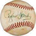 Autographs:Baseballs, Circa 1950 Rogers Hornsby Single Signed Baseball....