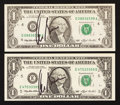 Al Gore Courtesy Autographed Fr. 1918-D $1 1993 Federal Reserve Note. Choice CU Al Gore Courtesy Autographed Fr