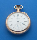 "Timepieces:Pocket (pre 1900) , E. Howard 14k Gold ""N"" Size Series VIII Pocket Watch. ..."