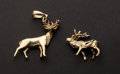 Estate Jewelry:Other , Two Gold Deer Charms. ... (Total: 2 Items)