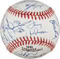 Autographs:Baseballs, 1989 Oakland A's Team Signed Baseball....