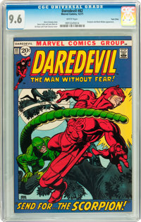 Daredevil #82 Twin Cities pedigree (Marvel, 1971) CGC NM+ 9.6 White pages