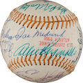 Autographs:Baseballs, 1968 Old Timers Game Signed Baseball with Medwick, Appling....