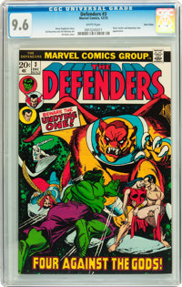 The Defenders #3 Twin Cities pedigree (Marvel, 1972) CGC NM+ 9.6 White pages