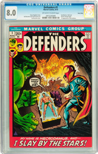 The Defenders #1 Twin Cities pedigree (Marvel, 1972) CGC VF 8.0 Off-white to white pages