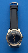 Timepieces:Wristwatch, Le Coultre Gold Filled Wind Indicator Automatic Wristwatch. ...