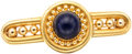 Estate Jewelry:Brooches - Pins, Antique Lapis Lazuli, Gold Brooch. ...