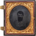 Military & Patriotic:Civil War, Most Rare Sixth Plate Ambrotype Post Mortem Portrait Of Confederate General Turner Ashby. ...