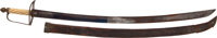 Late 18th Century American Horseman's Saber and Scabbard