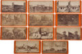 Military & Patriotic:Civil War, Group of Eleven E. & H. T. Anthony Civil War Stereo Views. ...