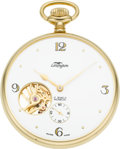 Timepieces:Pocket (post 1900), Lexington As New Exposed Balance Display Back Watch. ...