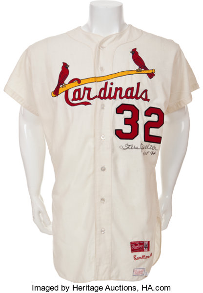 a62335300927 1968 Steve Carlton Game Worn St. Louis Cardinals Jersey....