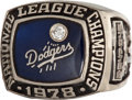 Baseball Collectibles:Others, 1978 Los Angeles Dodgers National League Championship Ring....