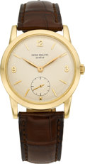 Timepieces:Wristwatch, Patek Philippe Ref. 2570 Gold Antimagnetic Vintage Wristwatch,circa 1957. ...