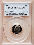 Proof Roosevelt Dimes: , 1992-S 10C Clad PR69 Deep Cameo PCGS. PCGS Population (2314/234).Numismedia Wsl. Price for problem fre...
