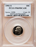 Proof Roosevelt Dimes: , 1991-S 10C PR69 Deep Cameo PCGS. PCGS Population (2180/214). NGCCensus: (288/249). Numismedia Wsl. Price for problem free...
