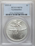 Modern Issues: , 1995-D $1 Olympic/Gymnastics Silver Dollar MS70 PCGS. PCGSPopulation (231). NGC Census: (276). Numismedia Wsl. Price for ...