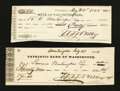 Miscellaneous:Other, Two Checks from Different Washington DC Banks. ... (Total: 2 items)